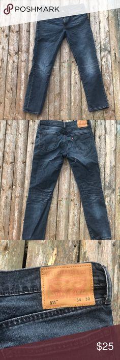 Levi's 511 Faded blue jeans slim straight  👖 34x30 Levi's Jeans Slim Straight