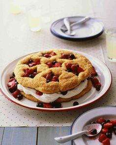 Summer Shortcake Your heart will be true to this red, white, and blue shortcake, perfect for the Fourth of July.