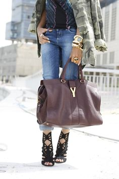 I can do without it all but that YSL bag is a major need in my life!