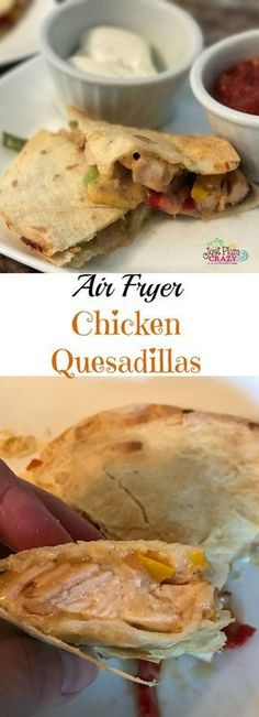 Today we are sharing an Air Fryer Chicken Quesadillas Recipe with you. It's easy to make and it is my husband's favorite.