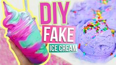 DIY ICE CREAM DOUGH ♥ This is pretty cool idea for party decorations. Ice cream that WON'T melt!! very easy to make and inexpensive