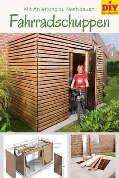 Compact bike shed, with transparent roof and practical .- Kompakter Fahrradschuppen, mit transparentem Dach und praktischen Fahrradstände… Compact bike shed, with transparent roof and practical bike stands.