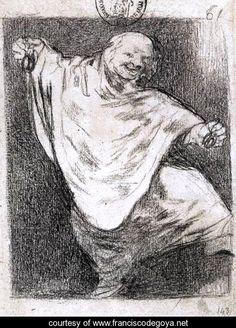Phantom Dancing with Castanets - Francisco De Goya y Lucientes - www.franciscodegoya.net