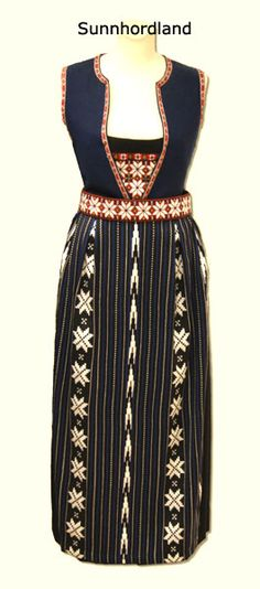 Sunnhordland bunad with blue vest. Folk Costume, Costumes, Folk Clothing, Blue Vests, Folk Embroidery, Bridal Crown, Traditional Outfits, Norway, Celebs