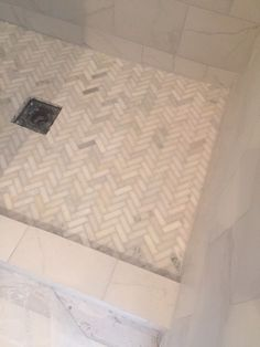 From Http://hellolovely.com, An In Progress Shower Tiled In
