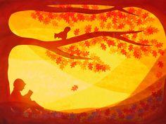 Glückwunschkarten - Herbstlese - ein Designerstück von art4windows bei DaWanda