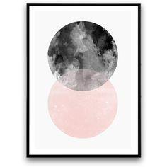 Geometric poster, abstract wall print, minimalist art, scandinavian... (€11) ❤ liked on Polyvore featuring home, home decor, wall art, black home decor, photo wall art, pink notebook, black wall art and pink wall art