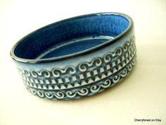 Vintage WGP pin-dish. Dumler & Breiden 215/14 , blue bowl. by Cherryforest on Etsy