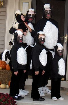 Make a Kidu0027s Skunk Halloween Costume | Pinterest | Kids s Halloween costumes and Costumes & Make a Kidu0027s Skunk Halloween Costume | Pinterest | Kids s Halloween ...