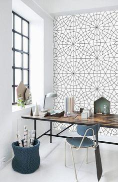 geometric ceramic tile wall