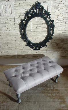 Ławeczka Chesterfield Pikowana Ławka Glamour Pufa (2849791431) - 249 zł   80x40 cm
