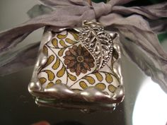 ART DECO  Soldered Glass Art Pendant or Charm by victoriacharlotte, $6.75
