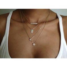 Delicate necklaces are so cute.