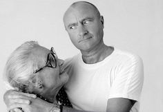 Phil Collins and his mother, June Collins.