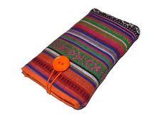 Stripes Tribe iPhone 7 Pouch, iPhone 7 Plus cover, orange iPhone SE case, iPhone 6 Plus Pouch, iPhone 5 sleeve Tribal Pattern by DriSewing on Etsy