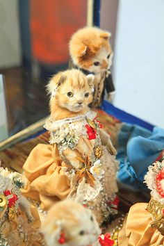 The Kittens' Wedding, c 1890 ~ Walter Potter.  (Please don't send me taxidermied kittens.)
