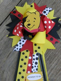 Winnie the Pooh Baby Shower Corsagebaby shower by bonbow on Etsy, $18.99