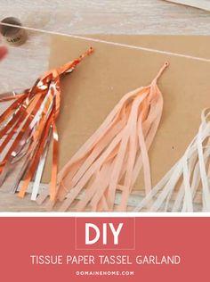 DIY: Tissue Paper Tassel Garland