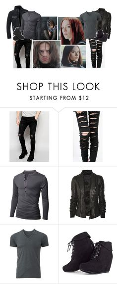 """""""Oorn [ James & Natasha ]"""" by believe-in-you-always ❤ liked on Polyvore featuring Sik Silk, Doublju, Rick Owens, Uniqlo, MARA and Timberland"""