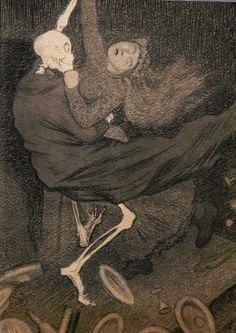 """carga-de-agua: """" Theodor Kittelsen (1857 – 1914) Norwegian artist. """""""