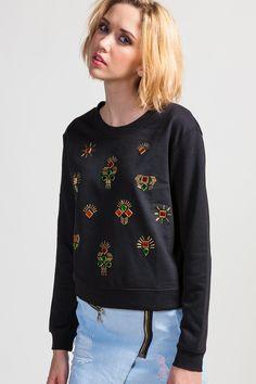 Koshka - Black Embellished Sweatshirt, $38.00 (http://www.shopkoshka.com/spice-world/black-embellished-sweatshirt/)