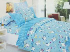 Hello Kitty Queen Size Bedding Polka Dot Removable and Machine Washable Hello Kitty Duvet Cover Set 100% Cotton 4pcs (Blue, Queen) Hello Kitty,http://www.amazon.com/dp/B00DWX4BNO/ref=cm_sw_r_pi_dp_ZizIsb0XMKGN9V8H