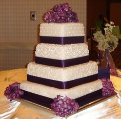 Love the look of this cake..except Navy instead of purple...maybe.