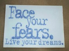 Red Face Your Fears Live Your Dreams Extreme Sticker | eBay