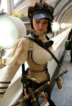 Steampunk its more than an aesthetic style, it's the longing for the past that never was. In Steampunk Girls we display professional pictures, and illustrations of Steampunk, Dieselpunk and other anachronistic 'punks. Some cosplay too! Moda Steampunk, Steampunk Couture, Style Steampunk, Gothic Steampunk, Steampunk Clothing, Steampunk Images, Steampunk Outfits, Casual Steampunk, Gothic Corset