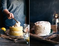 lemon cake with black tea frosting. yes. yes. yes.