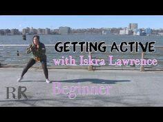 Iskra Lawrence Exercise Video Side Steps | RunwayRiot