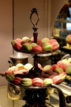 Macaroons from Angelina's on Rue Rivoli. The favourite tea room of Audrey Hepburn & Coco Chanel