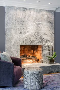 Tuscan design – Mediterranean Home Decor White Stone Fireplaces, Granite Fireplace, Marble Fireplace Surround, Rustic Fireplaces, Marble Fireplaces, Fireplace Surrounds, Family Room Fireplace, Home Fireplace, Fireplace Remodel