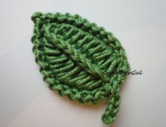 This is a different way to crochet a leaf. Very interesting... there is a picture tutorial - thanks!