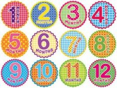 Month by month photos! Put a sticker on a onesie for the monthly photo! Such a great idea.
