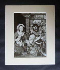 1920s Antique Quinten Massys Print Available by PrimrosePrints