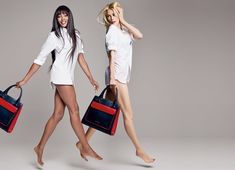 Naomi Campbell & Claudia Schiffer for Tommy Hilfiger.