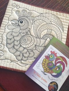 Steppdecke-A-Doodle-Do #1 Färbung, Kritzeleien und Quilting-Praxis-Buch von Helen Godden
