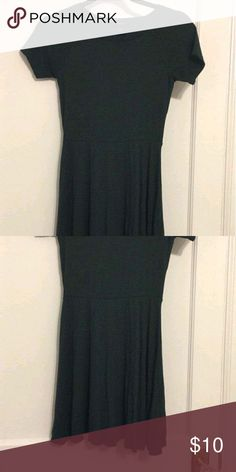 Cute skater dress Dark green skater dress with short sleeves. Brand new condition, never worn! Is more green than it seems in the pictures Forever 21 Dresses Mini