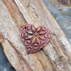 Handmade Copper Stained Glass Heart Pendant by KristiBowmanDesign, $12.00