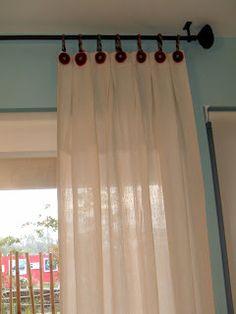 TAIRONA DISEÑO: cortinas tiras fieltro para colgar