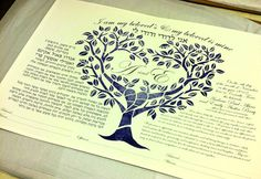 Heart Tree Ketubah via Etsy.
