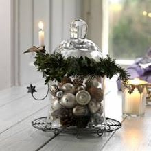Glass lid with garland and lights