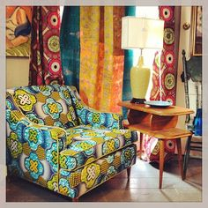 Salon au look wax -The Mombasa chair African Interior, African Home Decor, Modern Furniture, Furniture Design, African Shop, Global Home, Ethnic Decor, Love Your Home, Shop Interiors
