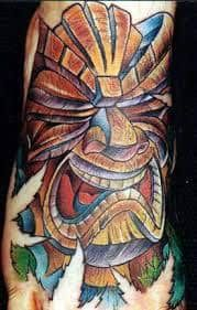 Tiki Tattoo 39 Tiki Tattoo, Epic Tattoo, Tiki Hawaii, Tiki Art, Piercing Tattoo, Body Piercing, Piercings, Body Tattoos, Maori Tattoos