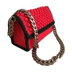 Handmade Crochet red bubble Shoulder Bag Handmade Accessories, Fashion Accessories, Crochet Shoulder Bags, Embroidery Bags, Handmade Bags, Gifts For Her, Bubbles, Jewels, Purses