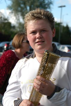 Still in shock after I carried the Olympic Flame.