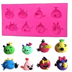 1 x Angry Birds Silicone Mold Mold Size: 13 cm x 6.6 cm x 1.8 cm (W X L X D) Material: Silicone Temperature: -40° ~ +230° ★ Easy to clean ★ Food Safe, FDA Approved ★ Can be used in the refrigerator, o