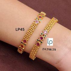 Gold Chain Design, Gold Bangles Design, Gold Jewellery Design, Gold Jewelry, Jewelry Design Earrings, Beaded Jewelry Designs, Bridal Bangles, Ruby Bangles, Gold Accessories