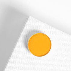 Tiki matte warm yellow with specks of gold Pressed Powder eye Shadow